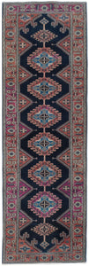 Handmade Tribal Abrash Collection Hallway Runner | 337 x 88 cm