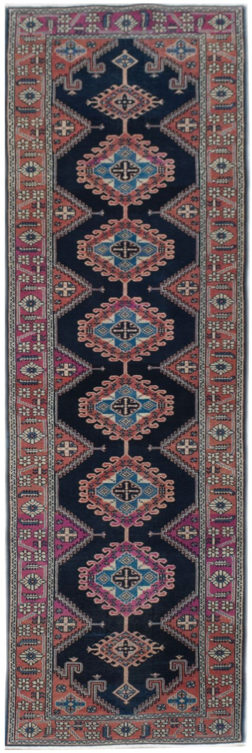 Handmade Tribal Abrash Collection Hallway Runner | 337 x 88 cm | 11'1