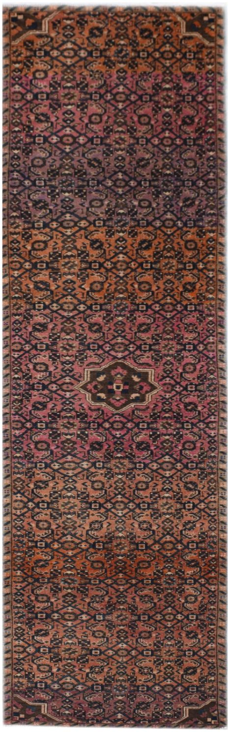 Handmade Tribal Abrash Collection Hallway Runner | 389 x 93 cm