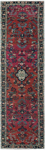 Handmade Tribal Abrash Collection Hallway Runner | 355 x 85 cm