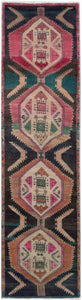 Handmade Tribal Abrash Collection Hallway Runner | 334 x 79 cm