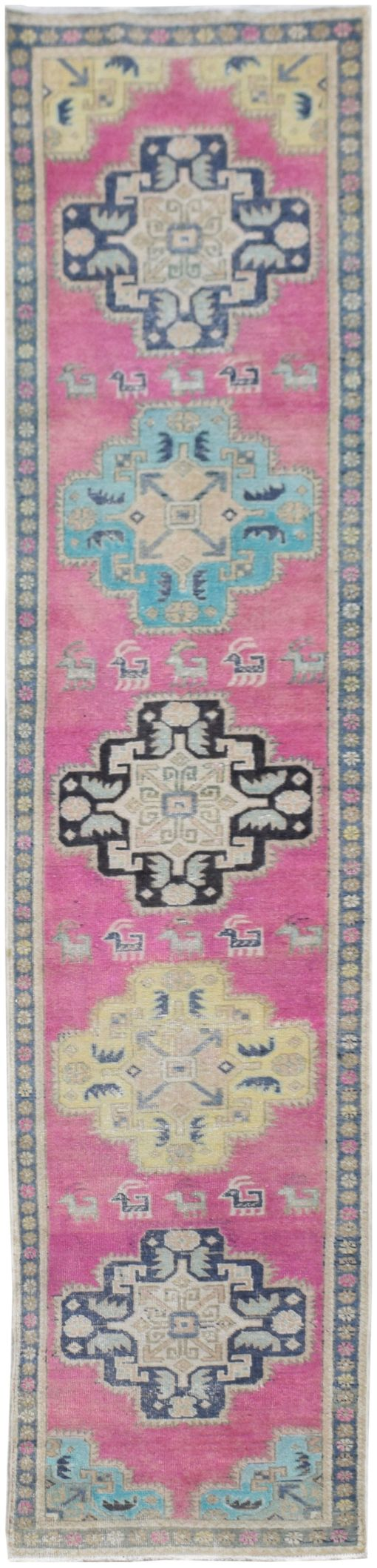 Handmade Tribal Abrash Collection Hallway Runner | 339 x 66 cm