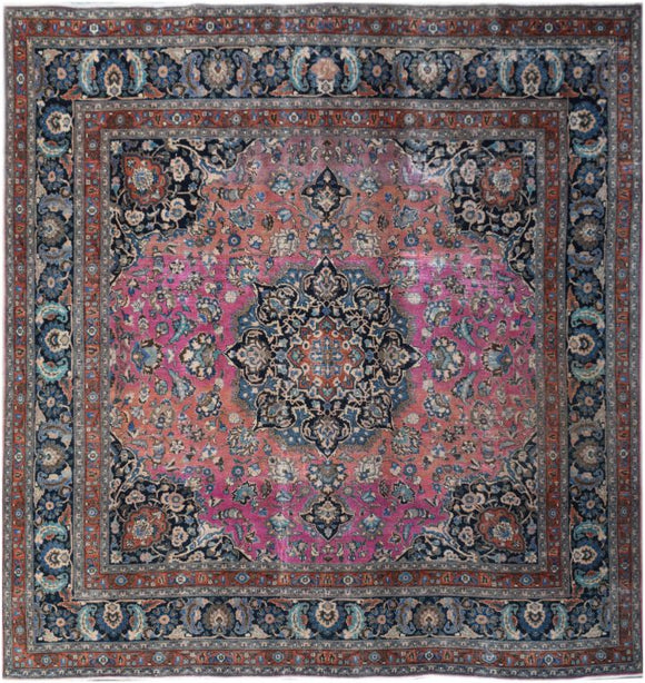 Handmade Tribal Abrash Collection Rug | 297 x 292 cm | 9'9