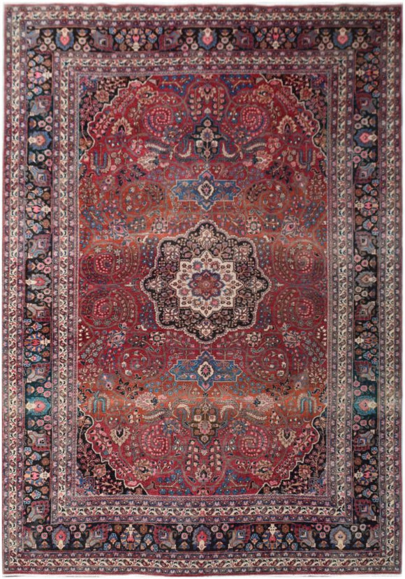 Handmade Tribal Abrash Collection Rug | 372 x 257 cm | 12'2