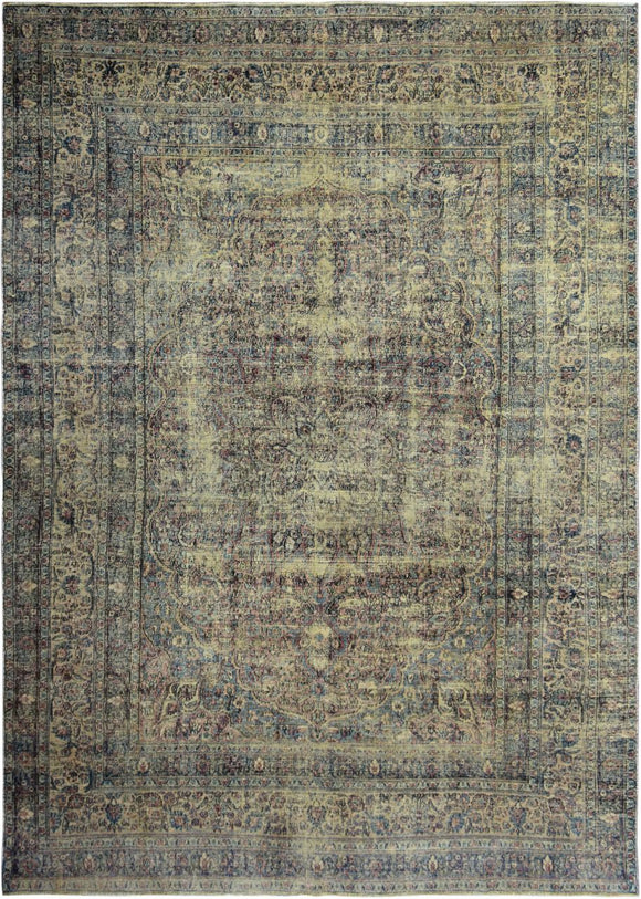 Handmade Antique Persian Kerman Rug | 359 x 256 cm | 11'7