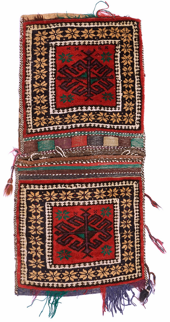 Handmade Tribal Saddle Bag | 111 x 41 cm
