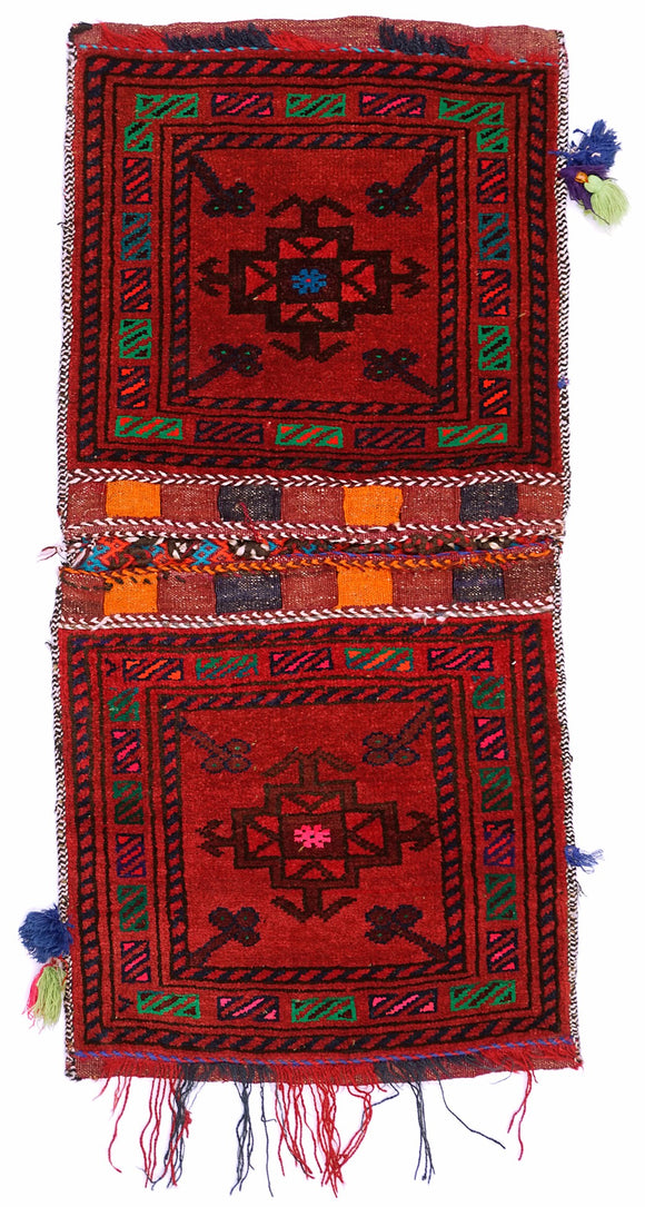 Handmade Tribal Saddle Bag | 106 x 41 cm