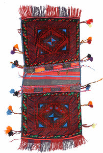Handmade Tribal Saddle Bag | 115 x 57 cm