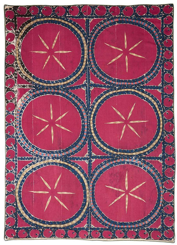 150 Year Old Antique Handmade Uzbek Suzani - Najaf Rugs & Textile