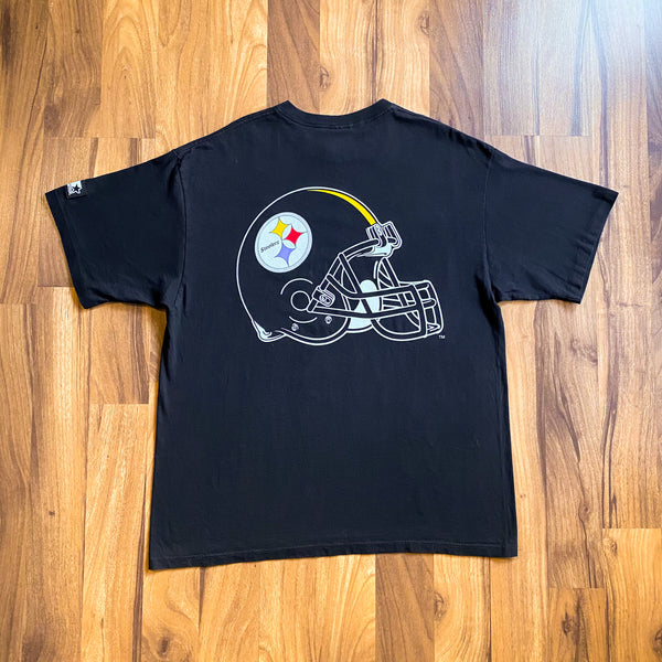 VINTAGE 1995 PITTSBURGH STEELERS NFL STARTER DOUBLE-SIDED T-SHIRT