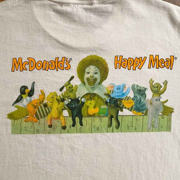 VINTAGE MCDONALD'S HAPPY MEAL AND TEENIE BEANIE BABIES PROMO PRINTED T-SHIRT