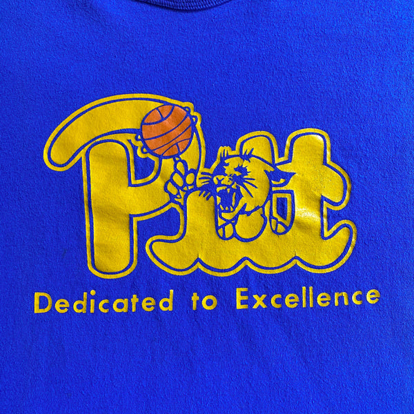 "VINTAGE PITT PANTHERS BASKETBALL ""DEDICATED TO EXCELLENCE"" CHAMPION T-SHIRT"