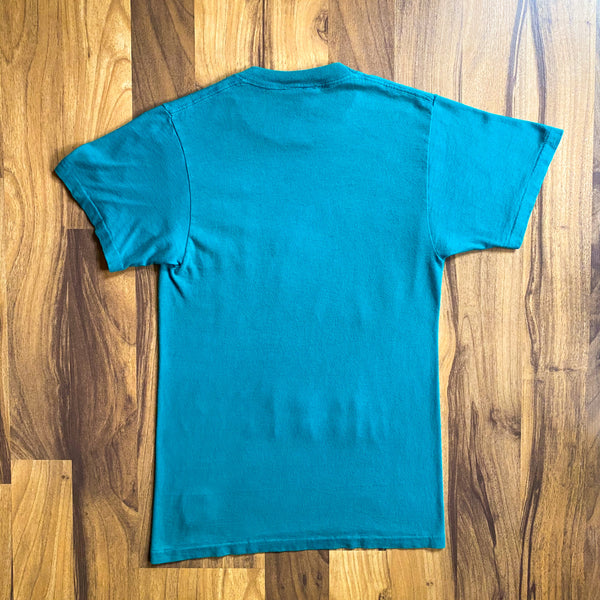 VINTAGE 1991 MIAMI DOLPHINS NFL FOOTBALL LOGO 7 GRAPHIC PRINTED T-SHIRT