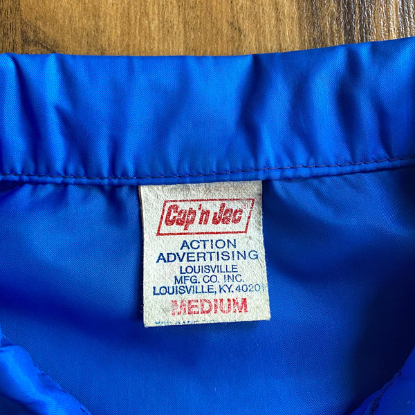 VINTAGE 1979 SEARS ACES PATCH FULL-ZIP FOLD COLLAR JACKET