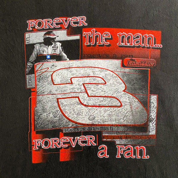 "VINTAGE DALE EARNHARDT NASCAR ""FOREVER THE MAN"" CHASE AUTHENTICS T-SHIRT"