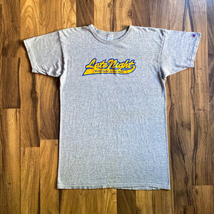 VINTAGE LATE NIGHT WITH DAVID LETTERMAN CHAMPION GRAPHIC PRINTED T-SHIRT