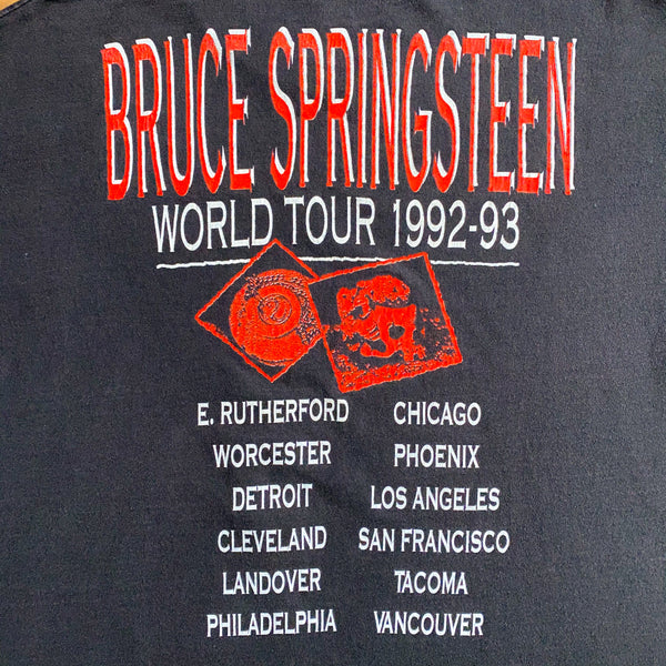 VINTAGE 1992-93 BRUCE SPRINGSTEEN WORLD TOUR DOUBLE-SIDED T-SHIRT