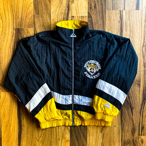 VINTAGE PITTSBURGH PIRATES MLB CONTRAST NYLON FULL-ZIP WINDBREAKER JACKET