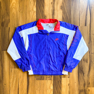 VINTAGE NIKE INTERNATIONAL CONTRAST PATCH FULL-ZIP WINDBREAKER JACKET
