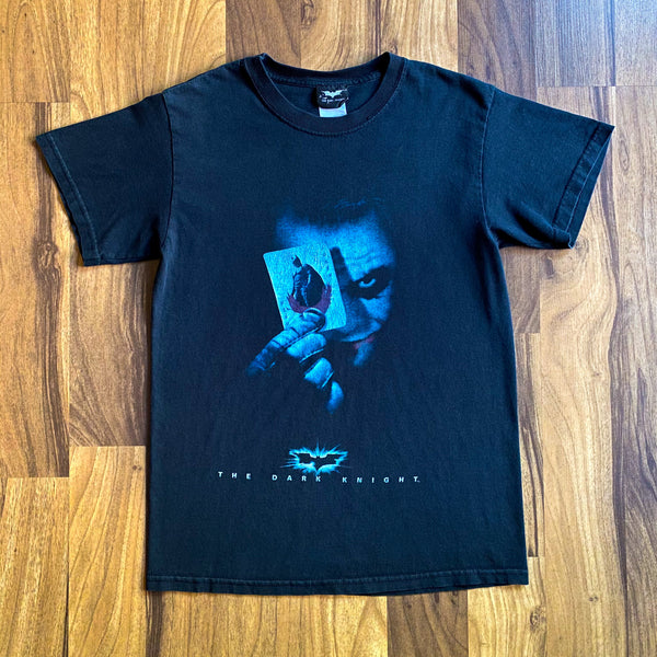 VINTAGE THE DARK KNIGHT MOVIE HEATH LEDGER JOKER GRAPHIC PRINTED T-SHIRT