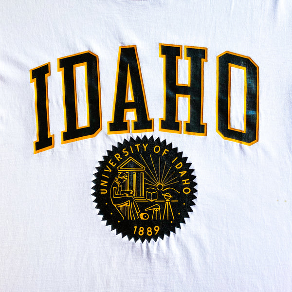VINTAGE UNIVERSITY OF IDAHO SOFFE HEAVY COTTON GRAPHIC PRINTED T-SHIRT