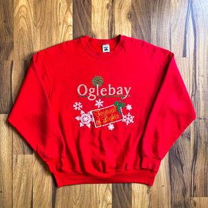 "VINTAGE 90'S OGLEBAY ""FESTIVAL OF LIGHTS"" CHRISTMAS HOLIDAY CREWNECK SWEATSHIRT"