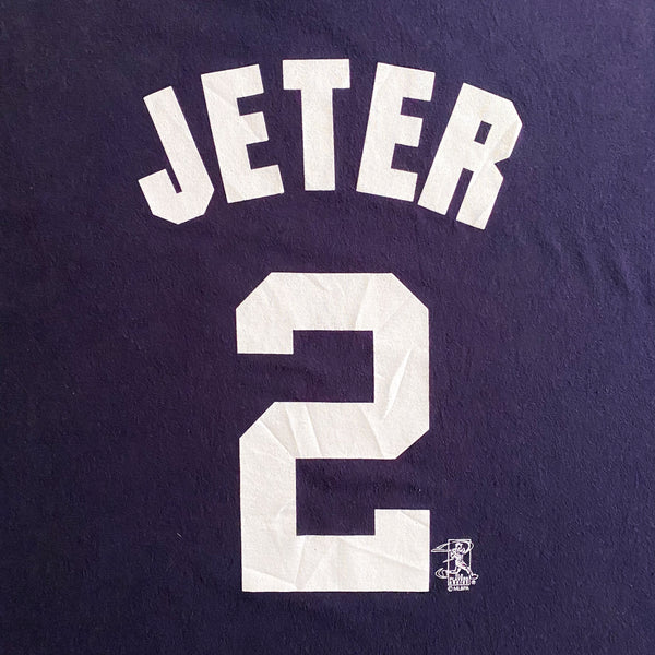 VINTAGE DEREK JETER NEW YORK YANKEES MLB PLAYER MAJESTIC T-SHIRT