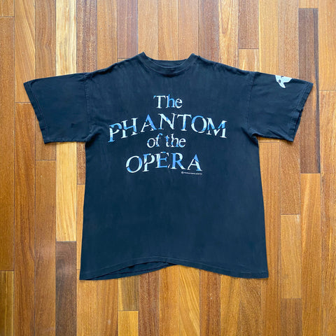 VINTAGE THE PHANTOM OF THE OPERA BROKEN GRAPHIC PRINTED T-SHIRT