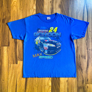 VINTAGE NASCAR JEFF GORDON PEPSI MAX PROMO DOUBLE-SIDED RACING T-SHIRT