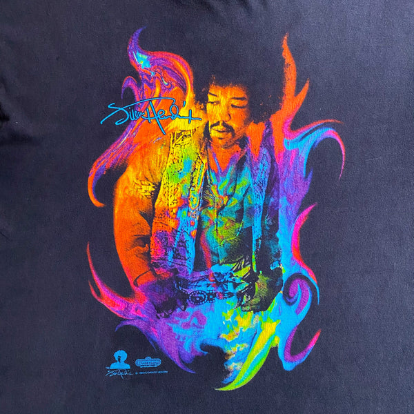VINTAGE 1996 JIMI HENDRIX WINTERLAND OFFICIAL DOUBLE-SIDED ROCK T-SHIRT
