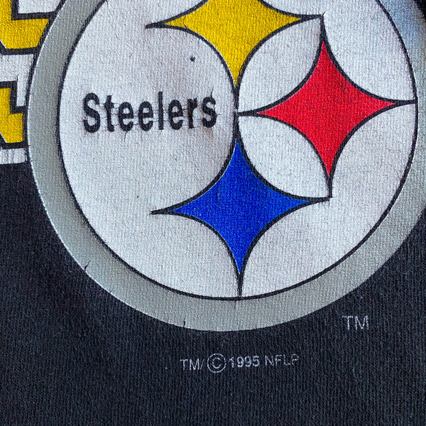 VINTAGE 1995 PITTSBURGH STEELERS NFL STARTER DOUBLE-SIDED PRINTED T-SHIRT