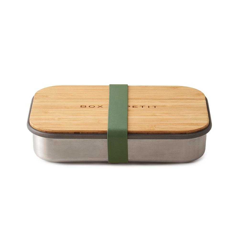 Stainless Steel - Bamboo Lid Lunch Box