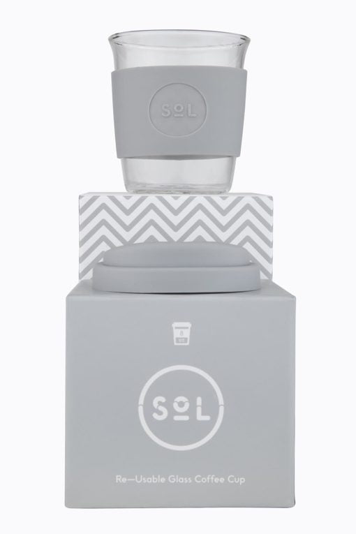 Sol Cup  8oz + pouch | Cool Gray