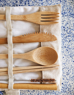 Reusable Bamboo Cutlery Travel Set