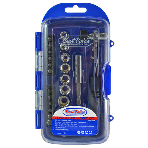 SOCKET and BITS SET (24-PIECES)