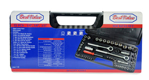 Socket Set (52-Piece) 1/4, 3/8 and 1/2 in.