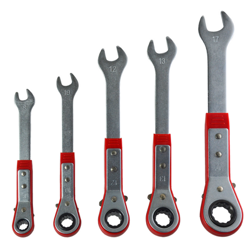 COMBINATION RATCHET WRENCH SET (5-PIECE)