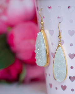 Kinsley Armelle - Quartz Drop Earrings