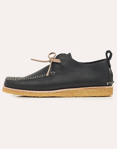 Yogi Lawson Tumbled Leather Moccasin - Black