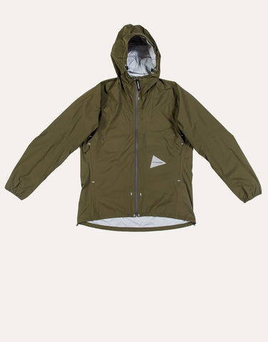 and Wander 3L Light Rain Jacket - Khaki