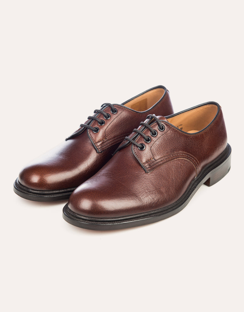 TRICKER'S Kudu Leather Derby Shoe - Caramel
