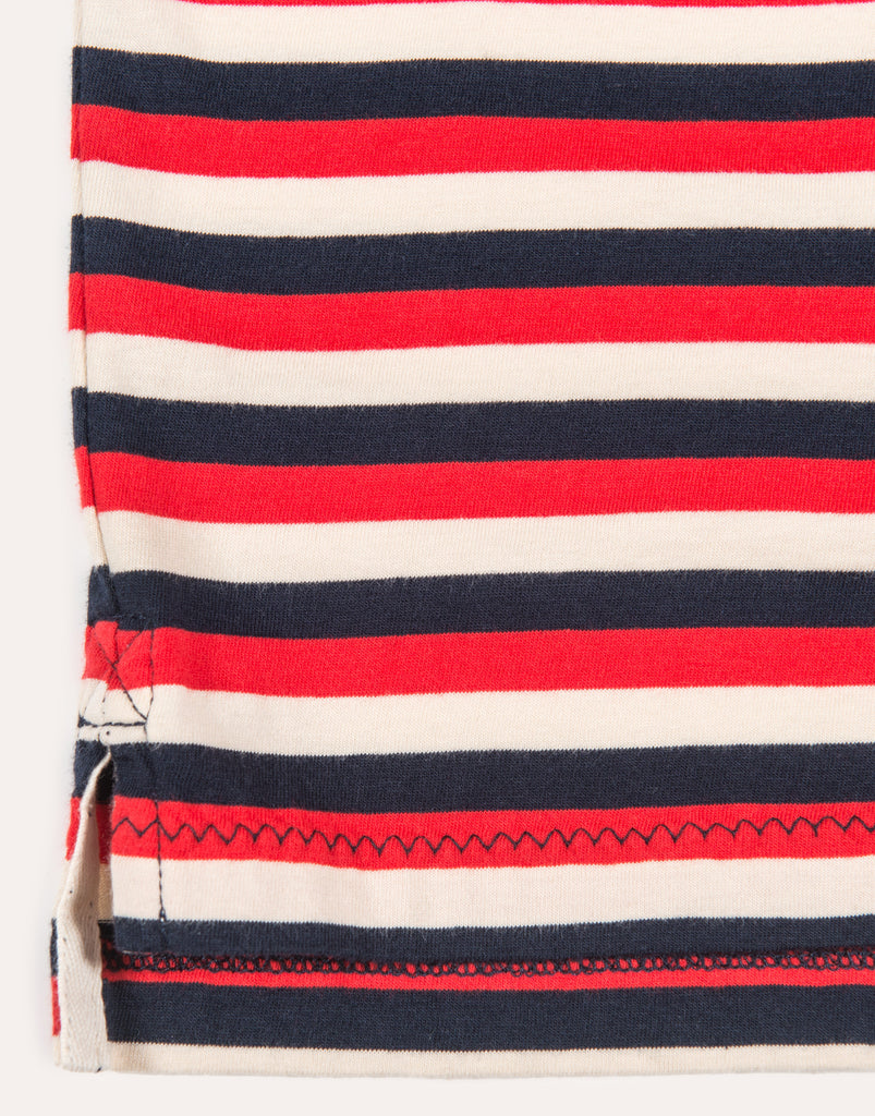 Albam SS Classic Stripe Tee - Red & Navy