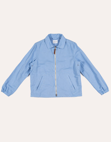 Albam Lined Blend Harrington Jacket - Light Blue