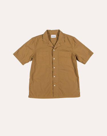 Albam SS Revere Collar Shirt - Cotton - Tobacco