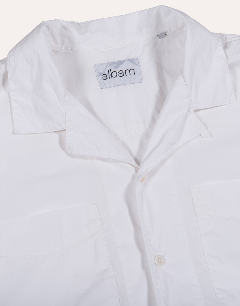 Albam SS Revere Collar Shirt - Cotton - White
