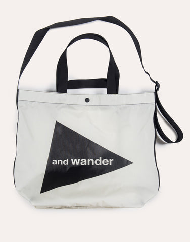and Wander CORDURA Big Logo Tote Bag - White