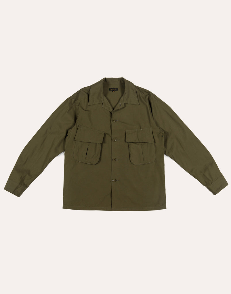A Vontade Fatigue Short Jacket - Olive