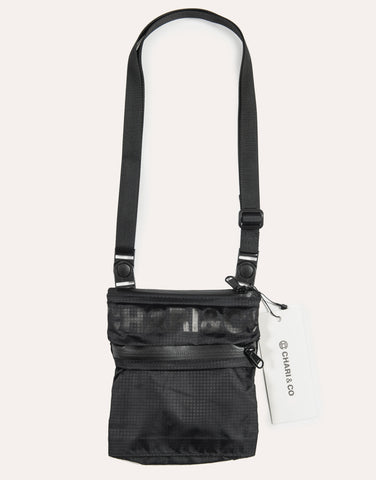 Chari & Co Nylon Sacoche Bag - Black