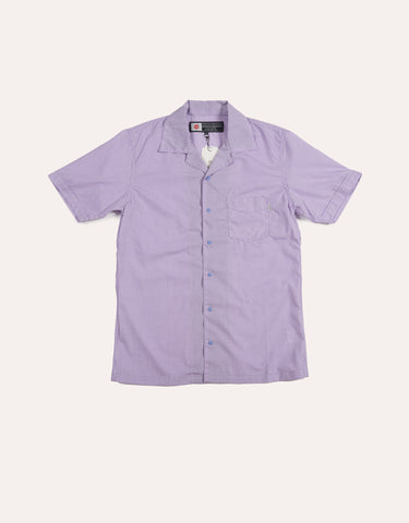CHARI & CO Open Collar Check Shirt Purple