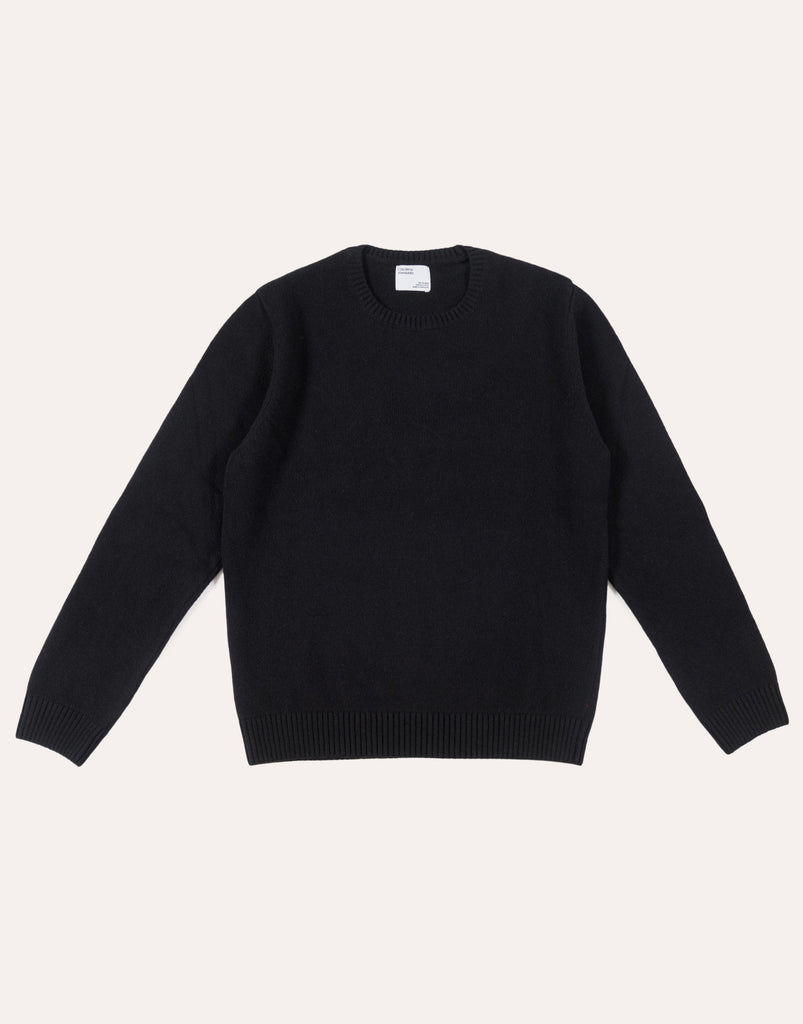 Colorful Standard Classic Merino Wool Crew - Deep Black